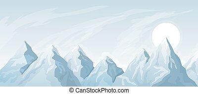 简单, 山, 背景