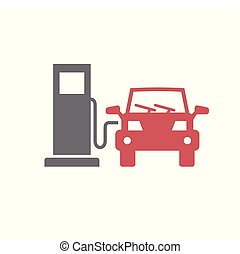 简单, 现代, 设计, trendy, 设计, 网, concept., 因特网, 燃料, 白色, 符号, 网站, 标志。, 背景, 图标, 图表, 运载工具, 汽车, 按钮, app., 矢量, 或者