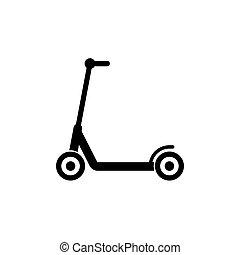 简单, 符号, 设计, 小摩托车, 图标