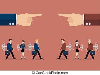 管理された, ビジネス, 大きい, 男性, 手, 機械, あった, 女性