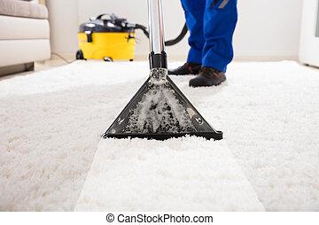 管理人, カーペットの クリーニング, 掃除機