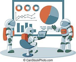 管理, オフィススペース, 状態, ワークフロー, ビジネス, テンプレート, infographics