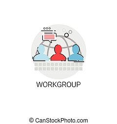 管理, グループ, ビジネス, 仕事, リーダーシップ, チーム, アイコン