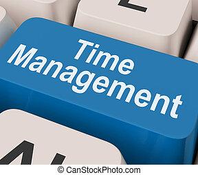 管理, スケジュール, オンラインで, キー, 時間, 組織化する, ショー