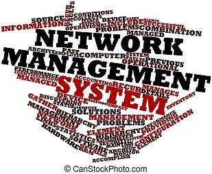 管理, ネットワーク, システム