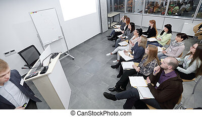 管理, ビジネス, 上, view.the, チームのミーティング