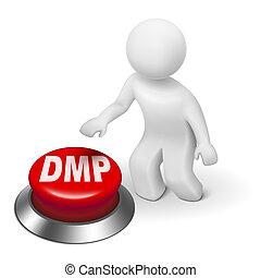 管理, ボタン, dmp, 計画, 人, 負債, 3d