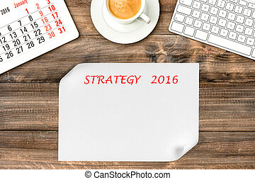 管理, 作戦, gadgets., 2016., デジタル, カレンダー