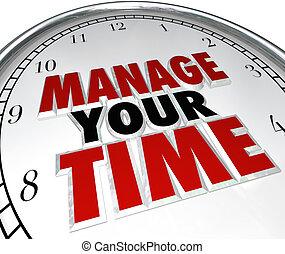 管理, 你, 時間, 詞, 鐘, 管理, 效率