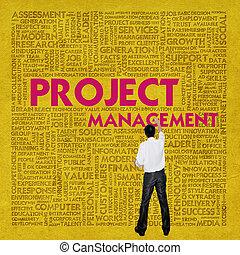 管理, 単語, ビジネス 概念, プロジェクト, 雲