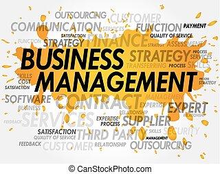 管理, 単語, ビジネス, 雲