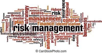 管理, 単語, 危険, 雲
