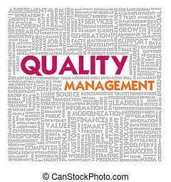 管理, 単語, 金融, ビジネス 概念, 品質, 雲