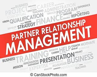 管理, 単語, 関係, prm, -, パートナー, 雲