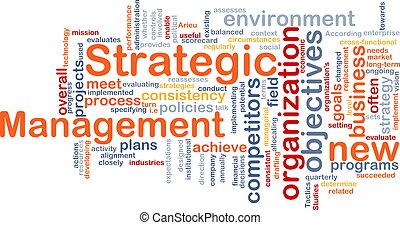 管理, 単語, 雲, 戦略上である