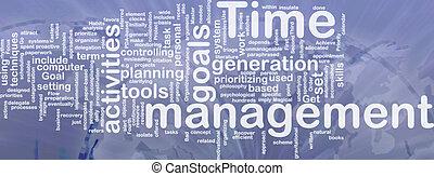 管理, 単語, 雲, 時間