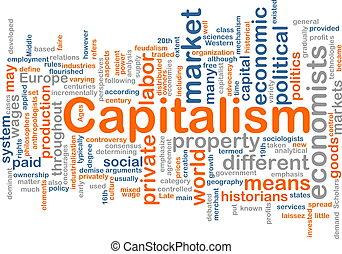 管理, 単語, 雲, 資本主義