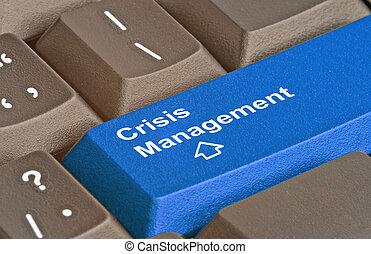 管理, 危機, 鑰匙, 鍵盤