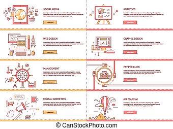 管理, 媒体, マーケティング, デジタル, analytic, 社会