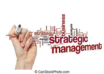 管理, 概念, 単語, 雲, 戦略上である