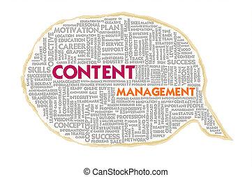 管理, 氣泡, 結構, 內容, wordcloud, 紙, 演說