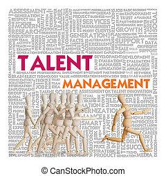管理, 跑, 人群, 木制, 在上方, 概念, 人類, 才能, 資源, 人