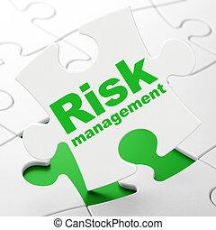 管理, 金融, 困惑, 背景, concept:, 危険