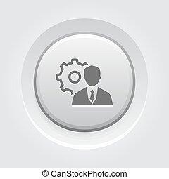 管理, icon., 概念, ビジネス
