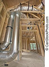 管, 仕事, 暖房装置, 冷却, 家