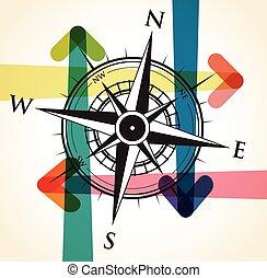 箭, 背景, 指南針