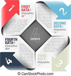 箭, 週期, infographics