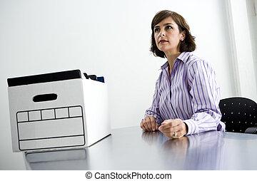 箱はファイルする, オフィス, モデル, 労働者, テーブル