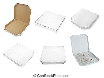 箱子, 包裹, 食物, 快的交付, 比薩餅