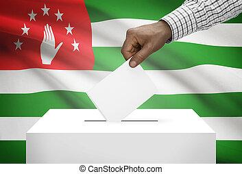 箱子, 國家,  -, 旗, 背景, 選票,  abkhazia
