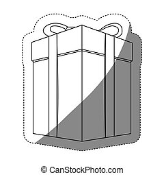 箱子, 屠夫, grayscale, 外形, 禮物