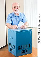箱子, 年長者, 選票, 人