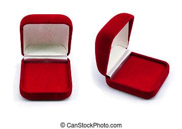 箱子, 戒指, 紅色