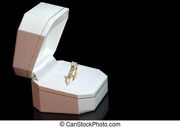 箱子, 戒指, 鑽石