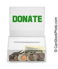 箱子, 捐贈