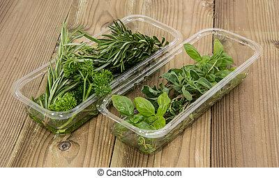 箱子, 新鮮, 藥草