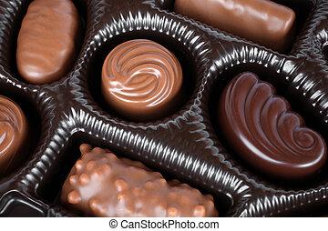 箱子, 甜食, 巧克力