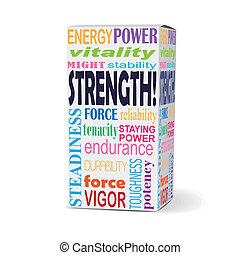箱子, 產品, 力量, 詞