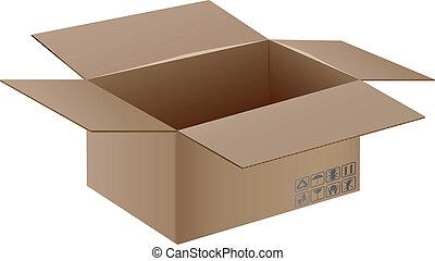 箱子, 由于, 運輸, 符號。