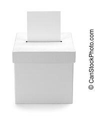 箱子, 白色, 選票