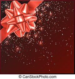 箱子, 禮物弓, 五彩紙屑, 聖誕節, 紅色