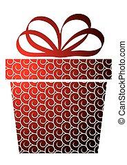 箱子, 聖誕節, 紅色, 禮物
