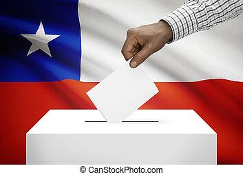 箱子, 背景, 國家,  -, 旗, 智利, 選票