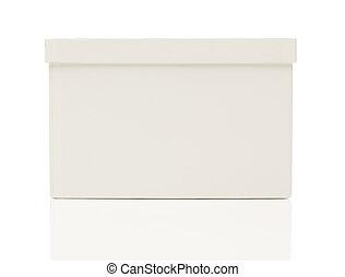 箱子, 蓋子, 白色, 空白