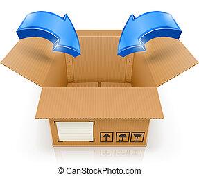 箱子, 裡面, 打開, 箭