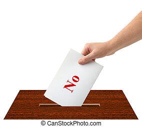 箱子, 選票, 手